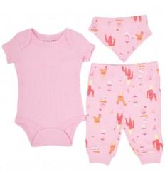 Conjunto 3 piezas para bebé niña-captus