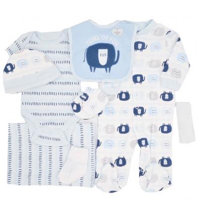 Conjunto 8 piezas para bebé niño-azul
