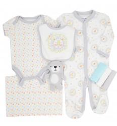 Conjunto 6 piezas para bebé niño-leones