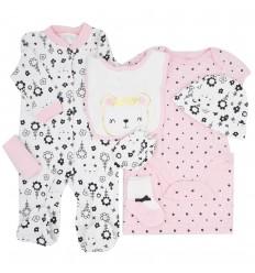 Conjunto 8 piezas para bebé niña-flores