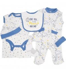 Conjunto 8 piezas para bebé niño-noche