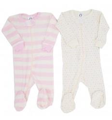 Set de dos pijamas enterizas para niña