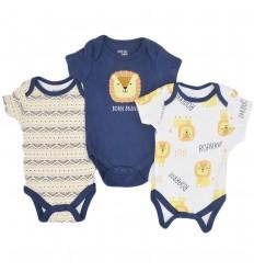 Set de bodys para bebé niño-leon