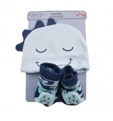 Set de gorro y medias para bebé niño