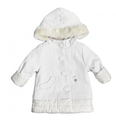 Abrigo Mayoral con capota para niña