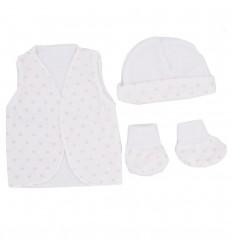 Set de ropa para bebè prematura-blanco