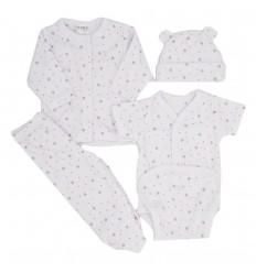 Conjunto de ropa para bebé prematura-blanco