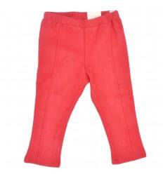 Pantalon para bebé niña en pana-Rojo