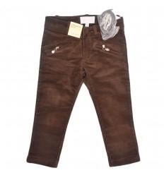 Pantalon mayoral para niña en pana-cafe