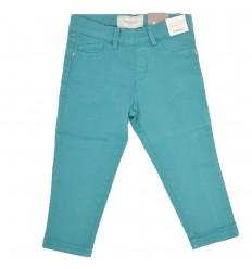 Pantalon en dril para niña-aguamarina