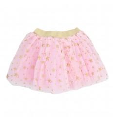 Falda tutu con estampado-rosada