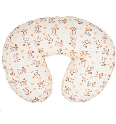 Almohada de lactancia amarilla de micos