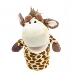 Títere en peluche- diseño de jirafa