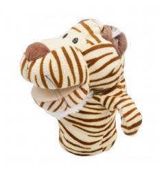 Títere en peluche- diseño tigre blanco