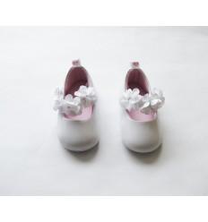 zapatos para bebe niña - blanco sintético