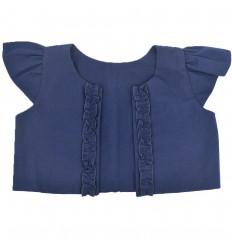 Torero manga corta para niña-azul
