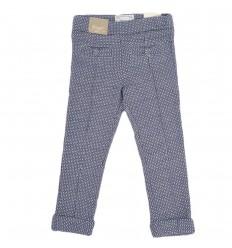 Pantalon estampado para niña-azul