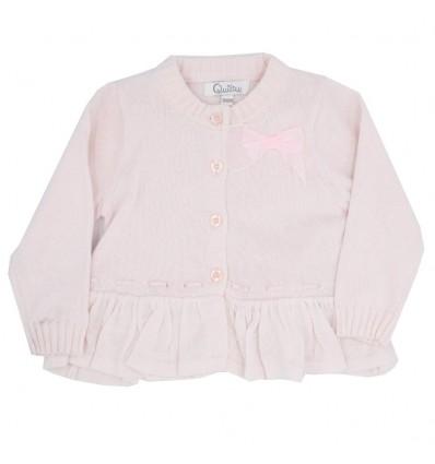 Saco en hilo para bebé niña-rosado