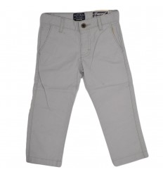 Pantalon dril para niño- gris claro