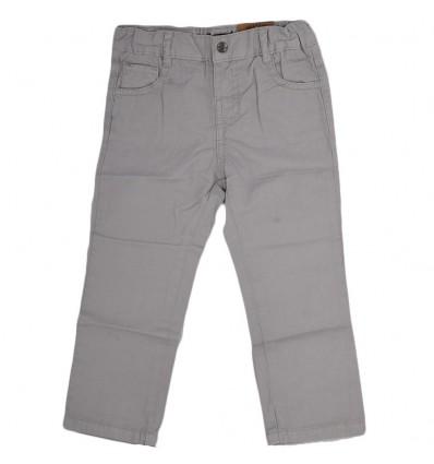 Pantalon en dril para niño-gris claro