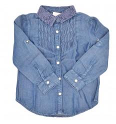 Camisa de jean para niña-azul