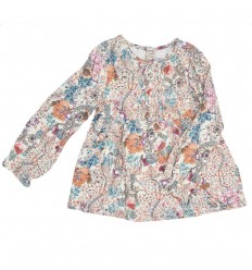 Camisa manga larga para niña- estampada