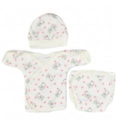 Conjunto 3 piezas para bebé prematura-ositos