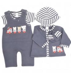Conjunto 5 piezas para bebé-azul