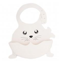 Babero en silicona diseño animal-blanco