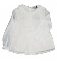 Camisa mayoral manga larga-blanco