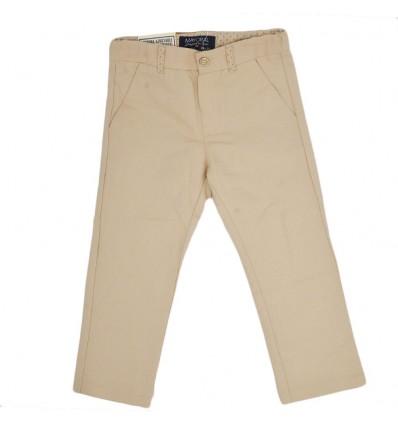 Pantalon en lino mayoral-beige