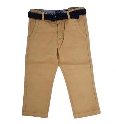 Pantalon en dril para niño-cafe claro