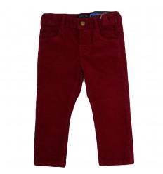 Pantalon en pana para niño-cereza