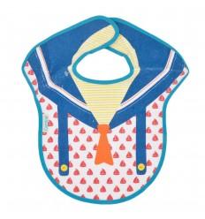 Babero estampado para bebé-azul