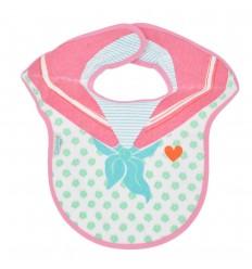 Babero estampado para bebé niña-rosa
