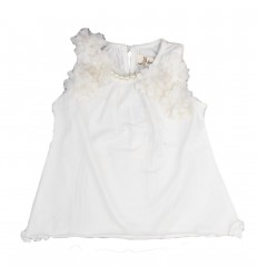 Camisa para niña sisa-blanca