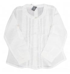 Camisa manga larga-blanca