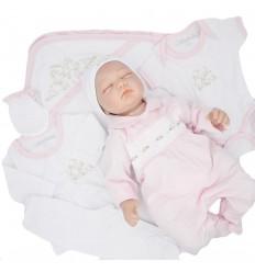 Primera muda para bebé niña-flores