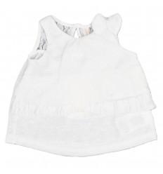 Camisa esqueleto para bebé niña-blanca