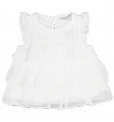 Camisa mayoral para niña-blanca