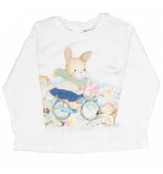 Buzo para bebé niña-estampado conejo