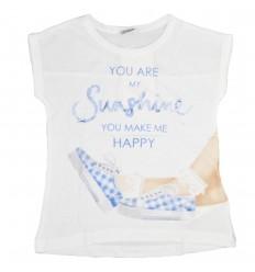 Camiseta mayoral para niña-blanca