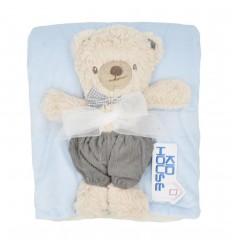 Cobertor con muñeco de apego-oso