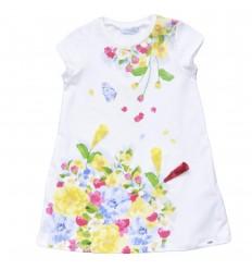 Vestido mayoral blanco con flores