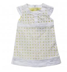 Vestido para bebé mayoral- blanco y verde
