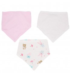 Set de 3 bandanas para niña- rosa