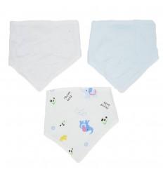 Set de 3 bandanas para bebé niño