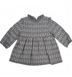 Vestido para bebé niña gris