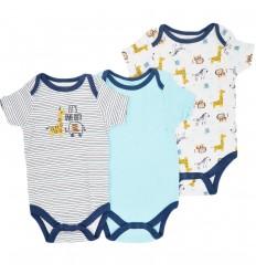 Set de bodys por 3 para bebé niño