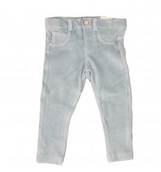 Pantalon en pana para niña-verde menta